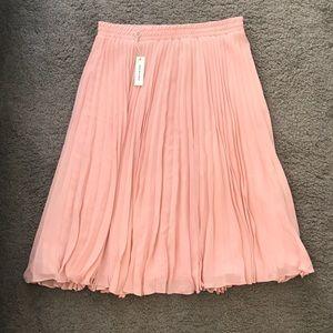 Pink Flowy Midi Skirt